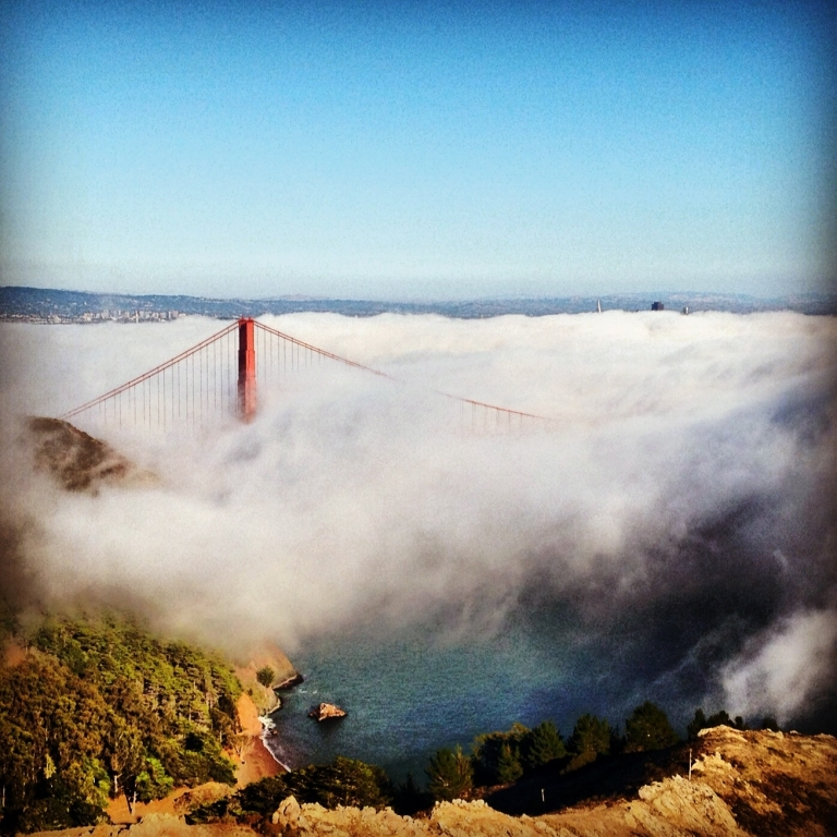 Golden Gate Bridge Blanked in Fog